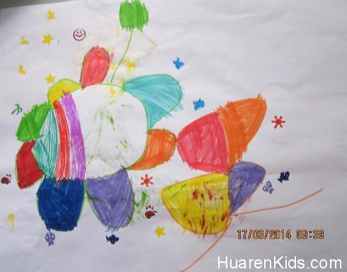 大宝的最新Drawing(2)  华人小孩 HuarenKids